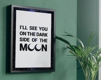 Pink Floyd Brain Damage A4 Digital Download Lyric Print    Dark Side Of The Moon   Music Gift   Song Lyrics Graphic Design Print  