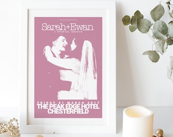 Customisable Tour Poster Style Anniversary Print   Live Music Print   Personalised Couple Prints   Wedding Anniversary Gift