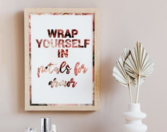 Hayley Williams Simmer Petals For Armor A4 Lyric Print   Music Gift   Paramore Gift   Music Song Lyrics Graphic Design Print  