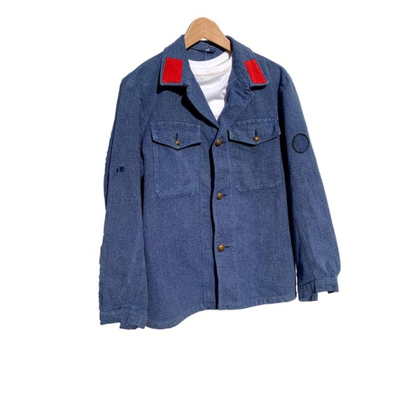 French workwear fireman's overshirt/jacket in soft