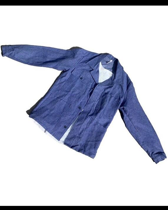 Cotton drill chore jacket.