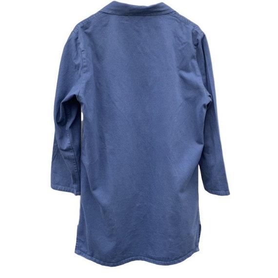 French vintage workwear porters jacket indigo 100… - image 2