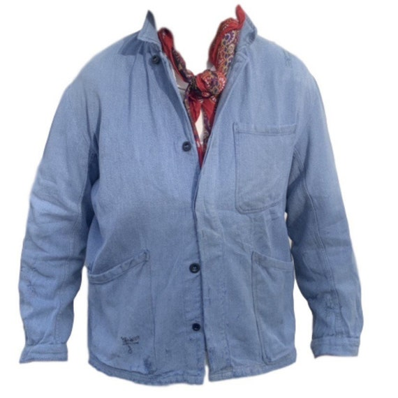 French workwear overshirt/jacket in soft cotton