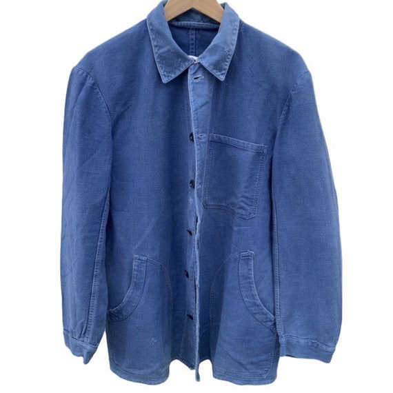 French workwear overshirt/jacket in indigo cotton