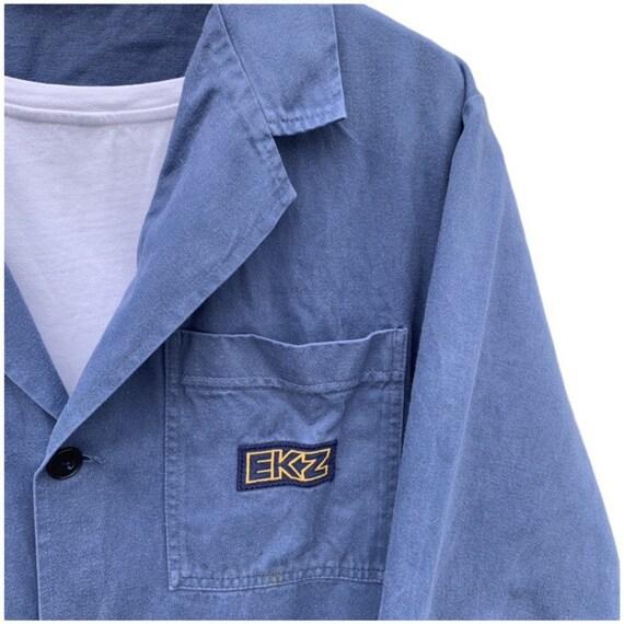 French vintage workwear porters jacket indigo 100… - image 4