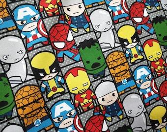 Ironman Thor Tela de cómics Marvel y DC Superhéroes 100/% algodón de Batman