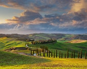 Fine Art Landscape Photo Print, Tuscany Countryside, Certified, Signed by the Author