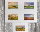 """5  assorted Tuscany photos  4x6""""  (10x15cm)  with  Mat"""
