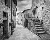 Fine Art black & white Photo Print, Tuscany, Certified, Signed by the Author