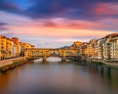 Fine Art Photo Print, Firenze Old Bridge, Certified, Signed by the Author