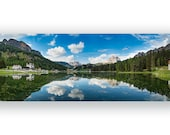 Fine Art Landscape Photo Print, Alpine lake, certified, signed,