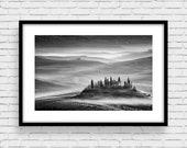 Fine Art  Photo Print, Tuscany B&W