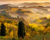 Fine Art Landscape Photo Print, Tuscany Chianti, Certified, Signed by the Author