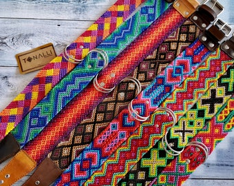 Mexican dog collar X.Large   Leather Dog Collar    Colorful Dog Collar   Woven Dog Collar   Girl dog collar  Male dog collar  Big dog collar