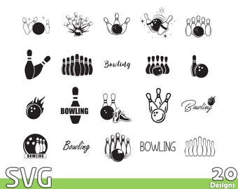 Bowling SVG Bundle, Bowling SVG Files, Quotes and Sayings, Bowling League, Bowling Gift, Cricut, Vinyl, Cutting File, Silhouette, png