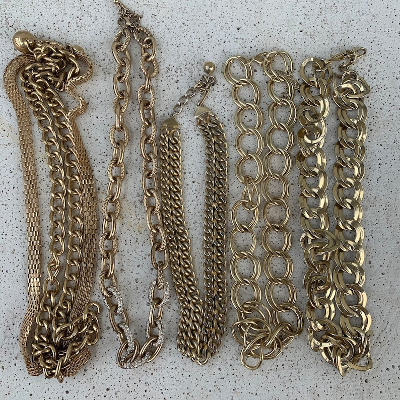 Upcycle X2062 Destash Crafting 5 Necklaces Jewelry Making Jewelry