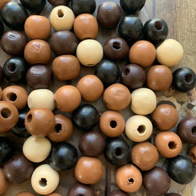 Bohemian Beads X1117 Large Hole Beads 100 WOOD Beads Natural Wood Beads Vintage