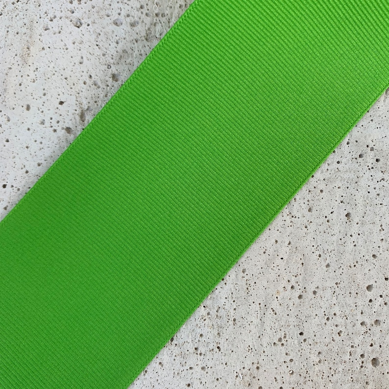 100/% Polyester Vintage Grosgrain Ribbon Made in USA X1848 Price is per Yard 2 14 Wide Apple
