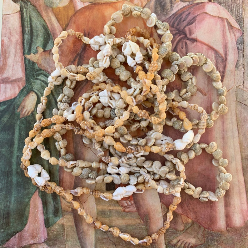 3 Shell Strand Seashells Strand Vintage X974 Tropical Beach Necklaces