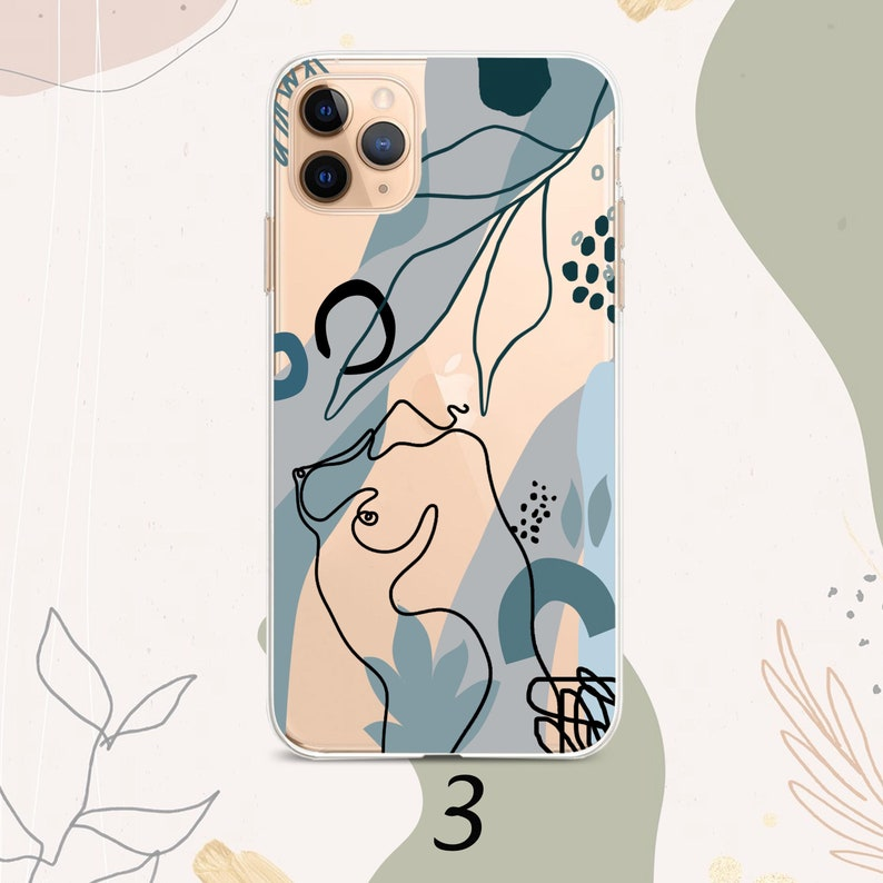 iPhone 11 case Abstract line face iPhone 12 Max Pastel Art Flower iPhone x xr xs max Pixel 3xl 2xl iPhone 7 8 6 SE Samsung S8 S9 S10 S20 S10