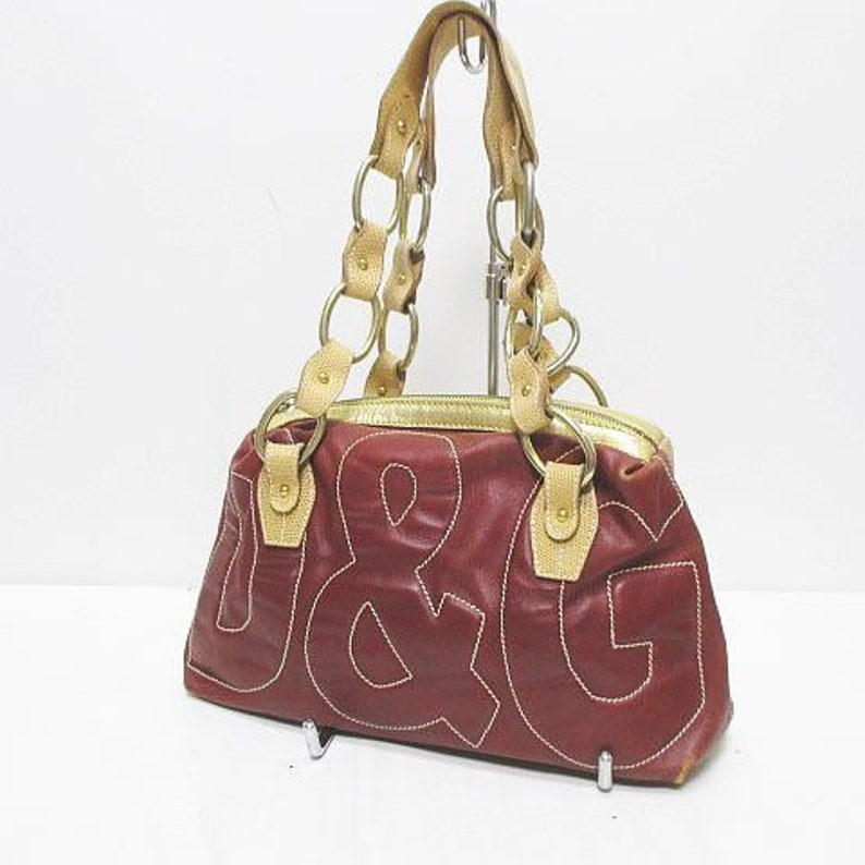 Dolce /& Gabanna DG Red and Tan Handbag