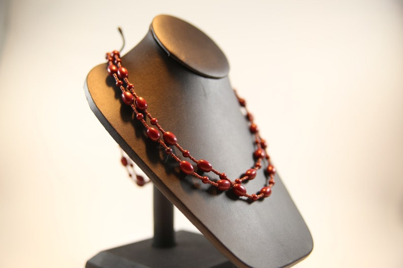 Vintage red beaded Necklace