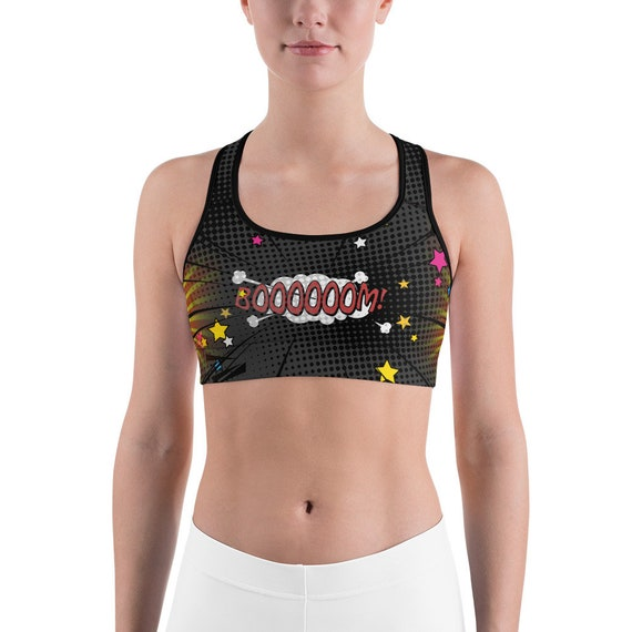 Boobs Sports Bra For Her Mastectomy Crop Top Breast Gift Daughter Funny F*ck Cancer Mom Woman/'s Pink Fashion BFF Birthday