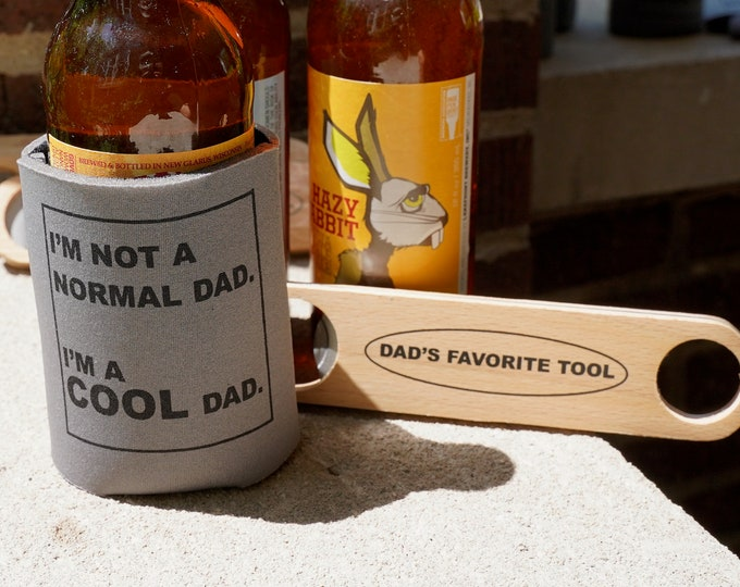 Bottle Opener and Can Cooler for New Dad, Ships NEXT day