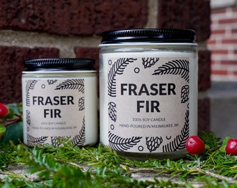 Fraser Fir Soy Candle, With Free Handwritten Card