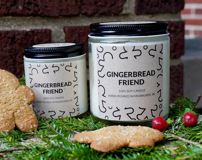 Gingerbread Soy Candle, With Free Handwritten Card