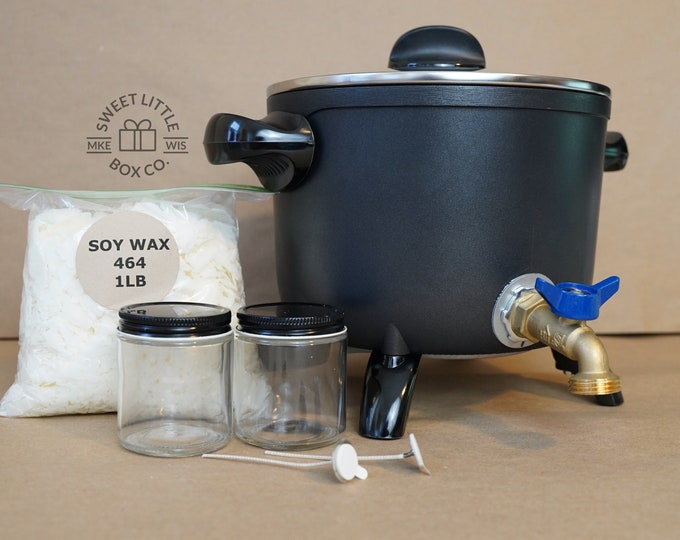 9 lbs, Wax Melter, FREE US shipping, Mechanically Secured Spout