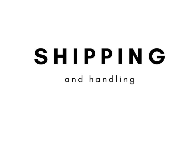Shipping and handling charge
