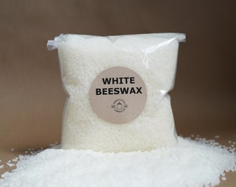 USA Beeswax Pellets, White 4oz, 8oz, 12oz, 1lb, 2lbs, 5lbs, 10lbs, 20lbs, 30lbs