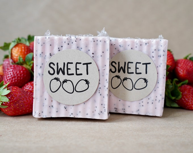 Two Bars of Strawberry Soap
