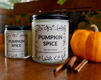 Pumpkin Spice Scented Soy Candle, With Free Handwritten Card