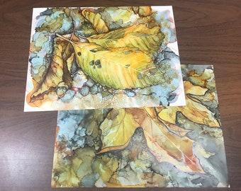 Fallen Leaves - Set of 2 scans of original art work