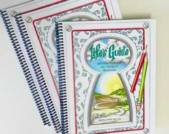 Life's Guide (hard copy): Self discovery through Art, Therapy, and Mindfulness - self help coloring book