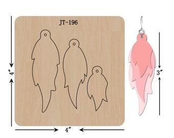 Leather Earring Cutting DieTrio Twist   Earring Die Sizzix Compatible JT04