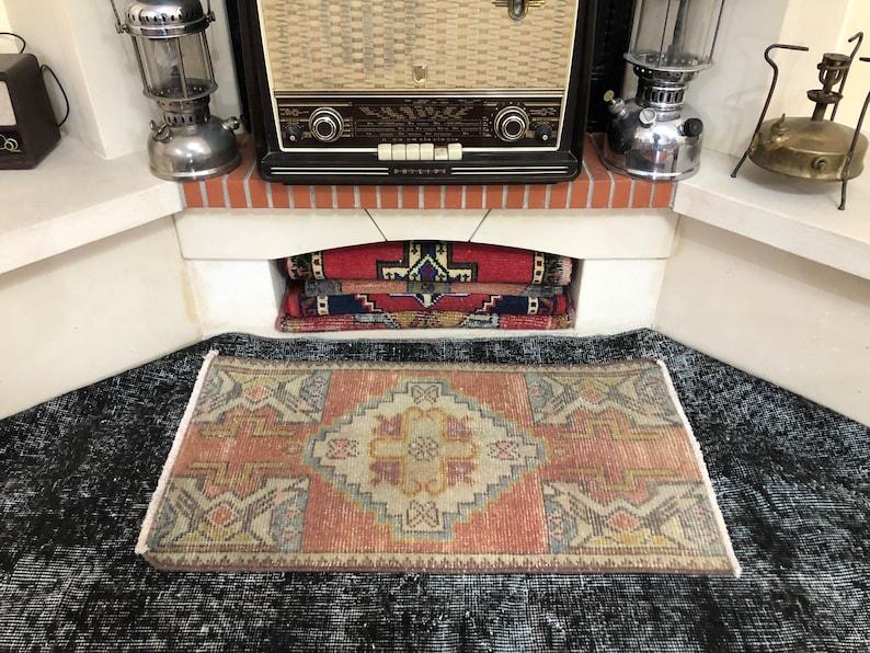 Small Oushak Rug Small Entry Rug Small Rug 1.5x2.8ft Entry Rug Small Oriental Rug Doormat Rug  Small Vintage Rug Small Turkish Rug