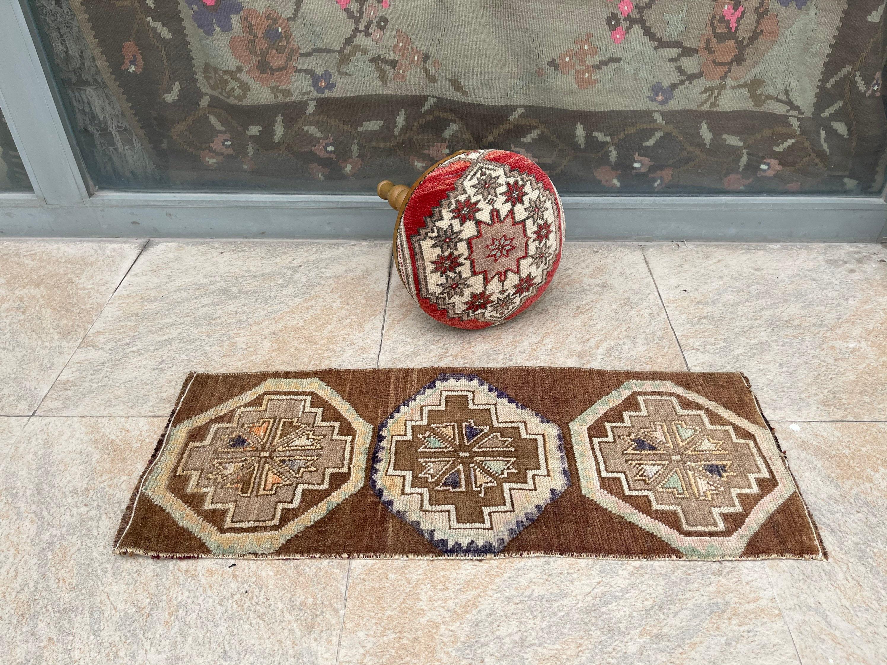 Small Entry Rug Area Rug, Small Turkish Rug Entry Rug 1.4x3.2ft Boho Rug Small Vintage Rug Doormat Small Rug Small Oriental Rug