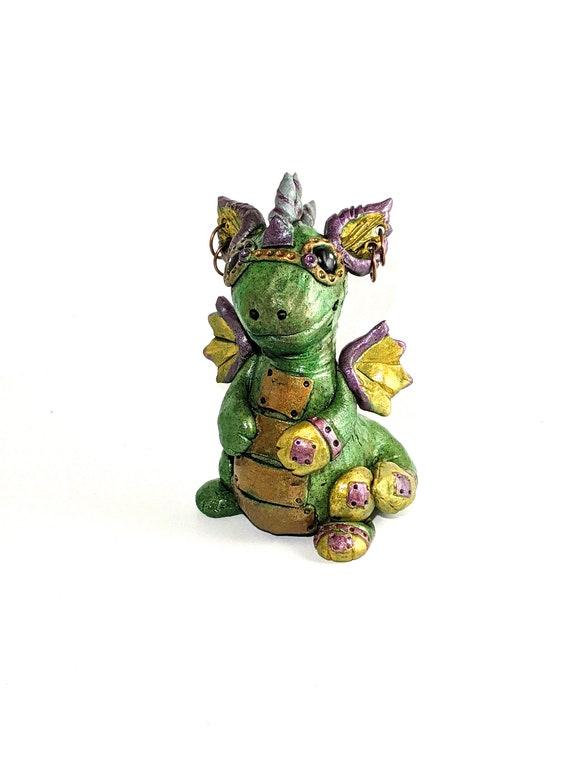 Steampunk Goggles with Green Dragon Black Dragon Handmade Custom