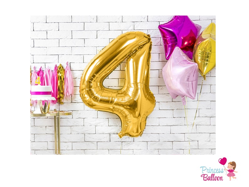 Giant Number Balloon Gold Number 86 cm Decoration Balloon 4th Birthday Gift