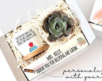 Teacher gift - plant gift for teacher - appreciation gift for teacher - unique gift for teacher - succulent gift box - gift under 20