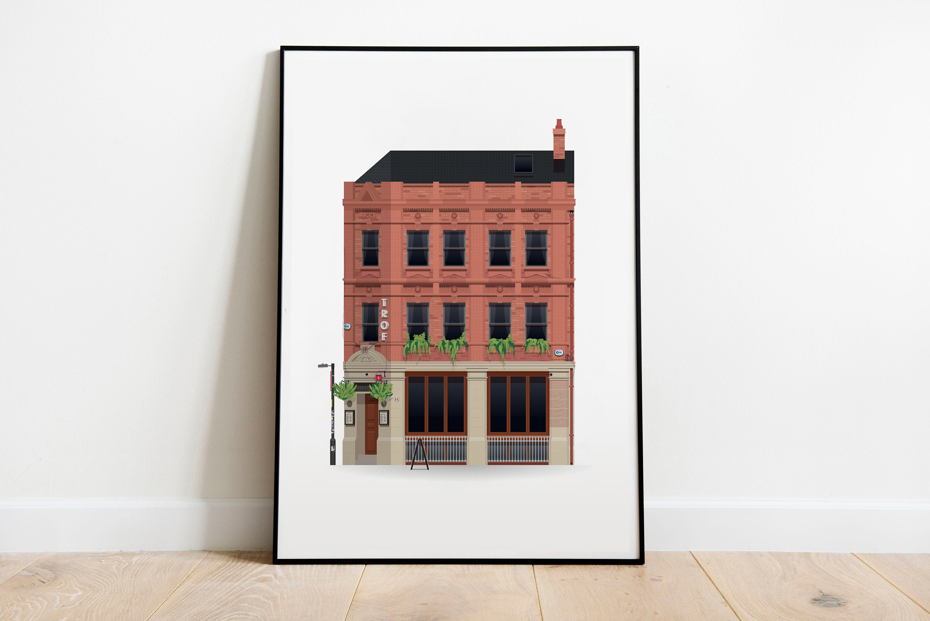 Manchester Charles Street YES Illustration Poster Print Wall Art