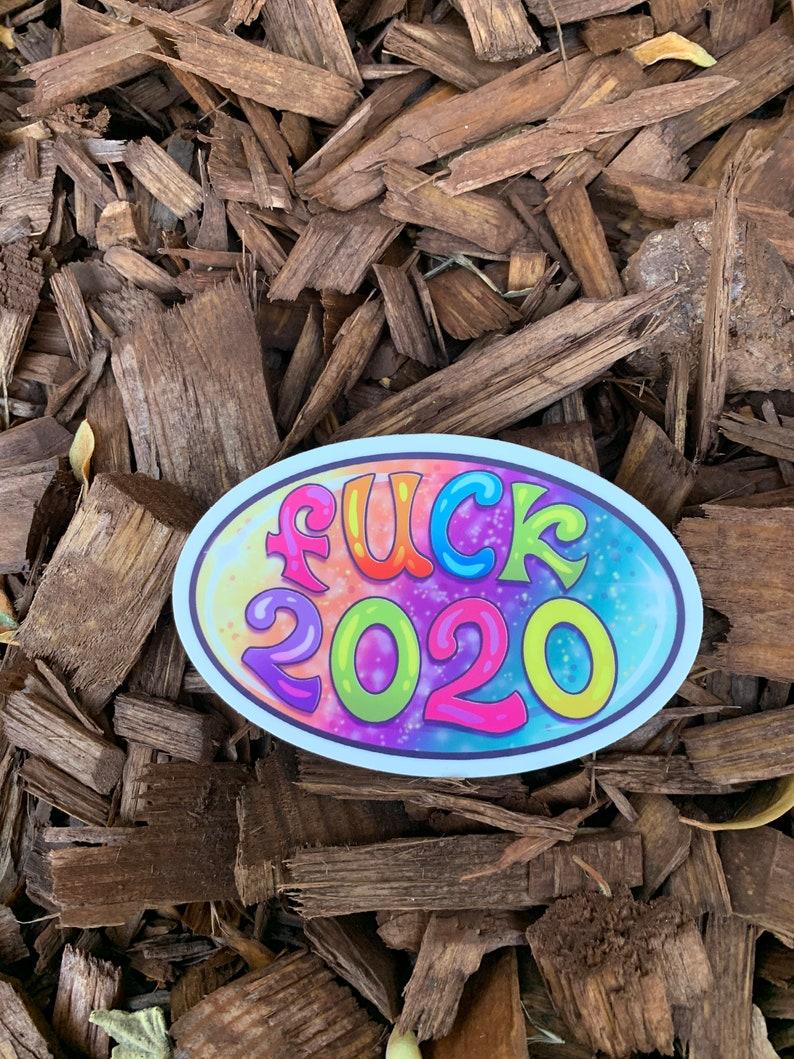 Fuck 2020 4 x 2.65 Die-cut Vinyl Sticker image 0