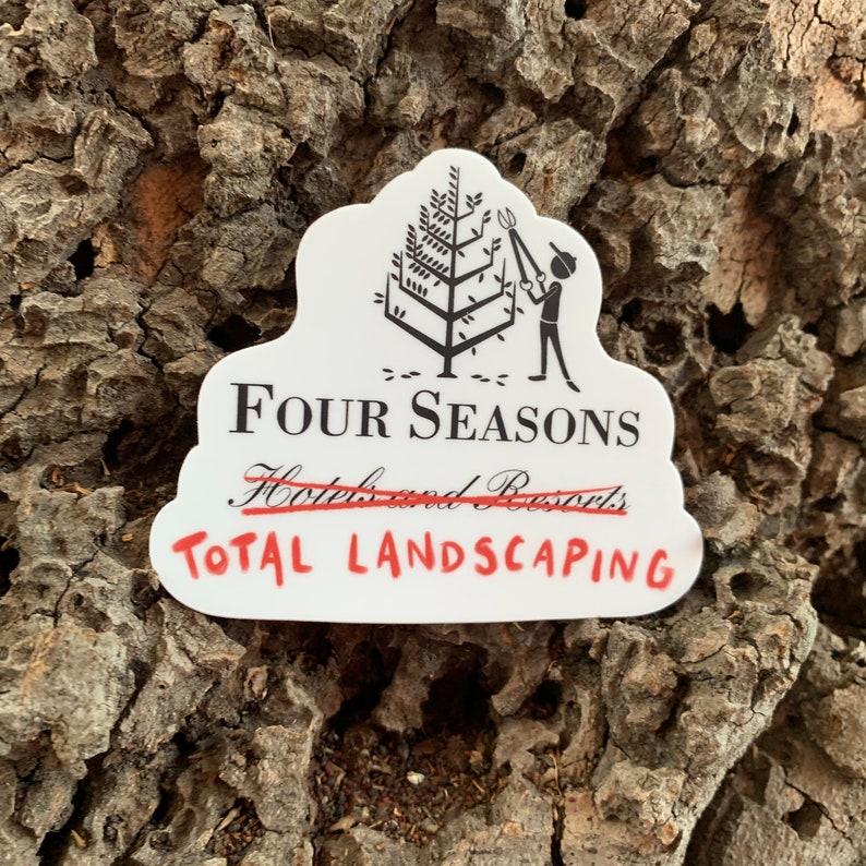 Four Seasons Total Landscaping  3 x 2.53 Die-cut image 0