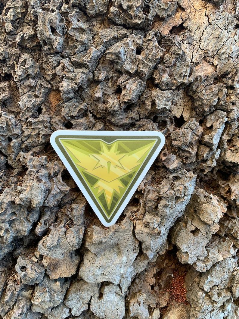 Pokemon Go: Team Instinct Logo 3 x 2.59 Die-Cut Vinyl image 0