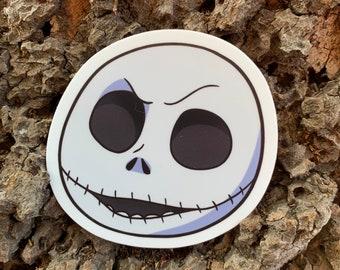 """Jack Skellington Smile -  2.89"""" x 3"""" Die-Cut Stickers"""
