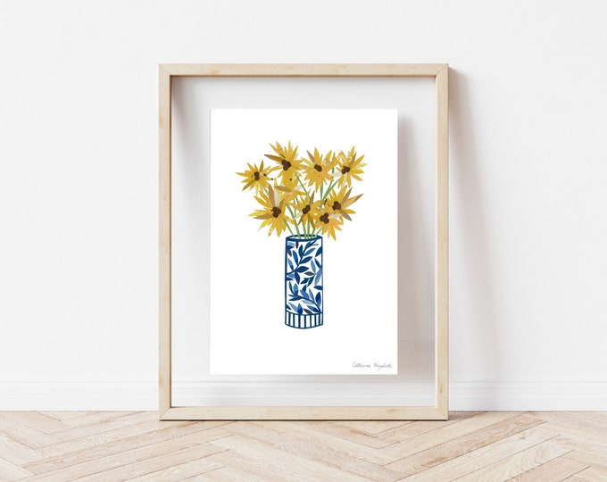"""Featured listing image: """"Sunflowers"""" Print, 8x10"""""""