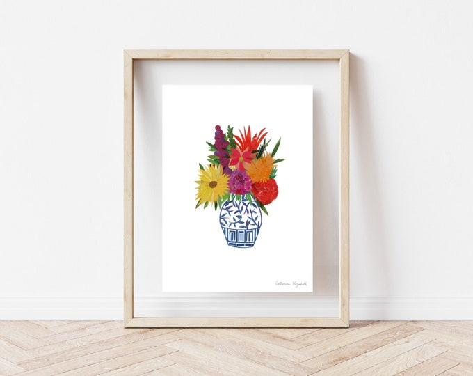 "Featured listing image: ""Floral Arrangement"" Print, 8x10"""